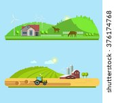 farm life  natural economy ... | Shutterstock .eps vector #376174768