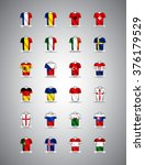 euro 2016 vector groups.... | Shutterstock .eps vector #376179529
