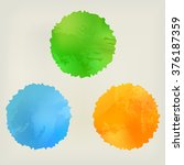 watercolor splashes  green ... | Shutterstock .eps vector #376187359