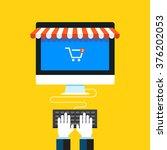online shopping  eshop ... | Shutterstock .eps vector #376202053