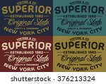 nyc superior vintage   co... | Shutterstock .eps vector #376213324