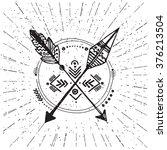 native american poster ... | Shutterstock .eps vector #376213504