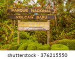 Sign Into Volcan Baru National...