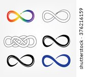 raster illustration infinity... | Shutterstock . vector #376216159