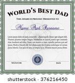 world's best father award.... | Shutterstock .eps vector #376216450