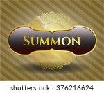 summon gold shiny emblem | Shutterstock .eps vector #376216624
