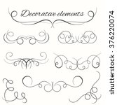 hand drawn dividers set.... | Shutterstock .eps vector #376220074