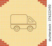 delivery truck line icon.... | Shutterstock .eps vector #376222450