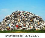 Pile Of Metallic Waste On A...