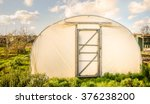 greenhouse    frontal view of a ... | Shutterstock . vector #376238200
