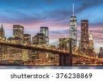 Brooklyn Bridge With Sunset ...