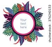 hawaii nature frame   Shutterstock .eps vector #376240153