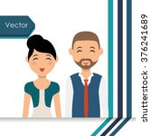 couple icon design  | Shutterstock .eps vector #376241689