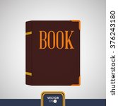 book icon design  | Shutterstock .eps vector #376243180