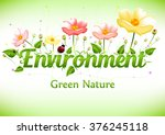 spring card symbolizing green... | Shutterstock .eps vector #376245118