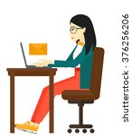 woman receiving email.   Shutterstock .eps vector #376256206