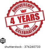 4 years anniversary celebration ... | Shutterstock .eps vector #376260733