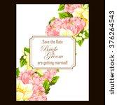 vintage delicate invitation... | Shutterstock .eps vector #376264543