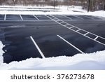 empty parking lot with snow... | Shutterstock . vector #376273678