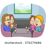 illustration of a couple... | Shutterstock .eps vector #376274686