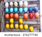 old colorful construction... | Shutterstock . vector #376277740