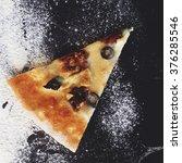 homemade pizza top view | Shutterstock . vector #376285546