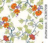 Seamless Floral Vintage Patter...