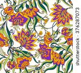 seamless floral vintage pattern.... | Shutterstock .eps vector #376287073