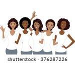 illustration of african... | Shutterstock .eps vector #376287226
