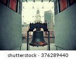 liberty bell and independence... | Shutterstock . vector #376289440