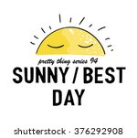 sunny best day illustration... | Shutterstock .eps vector #376292908