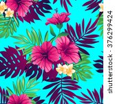 tropical trendy seamless... | Shutterstock .eps vector #376299424
