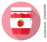 jam strawberry flat design