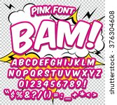creative high detail comic font.... | Shutterstock .eps vector #376304608