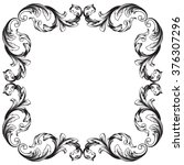 vintage baroque frame scroll... | Shutterstock . vector #376307296
