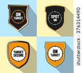 icon of emblem with target ... | Shutterstock .eps vector #376314490