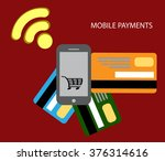 mobile payments and... | Shutterstock .eps vector #376314616