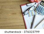 desk office business financial... | Shutterstock . vector #376323799