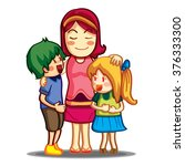 love family colorful | Shutterstock .eps vector #376333300