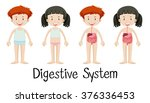 boy and girl with digestive... | Shutterstock .eps vector #376336453