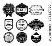 set of sale price discount... | Shutterstock .eps vector #376337710