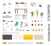 Some office furniture. Create your interior | Shutterstock vector #376338958
