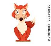 illustration of fox | Shutterstock .eps vector #376340590