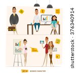 business characters set .group... | Shutterstock .eps vector #376340914