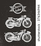 vintage motorcycle. hand drawn... | Shutterstock .eps vector #376346944