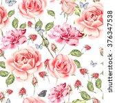seamless watercolor pattern... | Shutterstock . vector #376347538