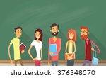 student group over green... | Shutterstock .eps vector #376348570