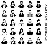 people icons in black and white.   Shutterstock .eps vector #376351990