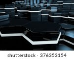 3d futuristic background with... | Shutterstock . vector #376353154