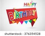 happy birthday sign design...   Shutterstock .eps vector #376354528